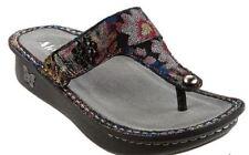 NEW Alegria Leather Thong Sandals w/ Adj. Strap Carina Noche Flora 39 US 9 9.5