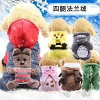 Small Pet Hoodie Sweater Coat Jacket Puppy Dog Cat Warm Costume Apparel Clothes