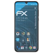 atFoliX 3x Schermbeschermer voor Motorola One Zoom Screen Protector duidelijk