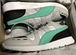 Puma Mens Size 9.5 Rs-100 Re-invention White Gray Violet Biscay Green 367913 01