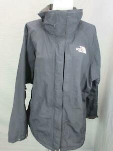 The North Face Size XL Womens Black Full Zip Outdoor Windbreaker Jacket T613