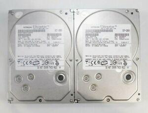"""LOT 2x Hitachi Ultrastar HUA721010KLA330 3.5"""" 1TB SATA II 3Gb/s HDD 0A35772"""
