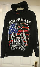 Mens Hooded Jumper Hoodie - MMA UFC - TapouT 100 Percent Anerican Eagle USA - XL