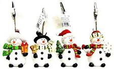 Christmas Decoration Polyresin Snowman Clip - 4 Assortments - 4.72in