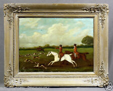 "Early 20th Century English School Oil Painting ""Fox Hunting"""