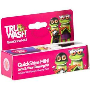 TruWash QuickShine Mini Lens Cleaning Kit, Including 50ml Spray & Cleaning Cloth