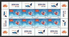 VIETNAM 2019 KOREA - USA SUMMIT FLAG TRUMP & KIM FULL SHEET OF 8 STAMPS IN MINT