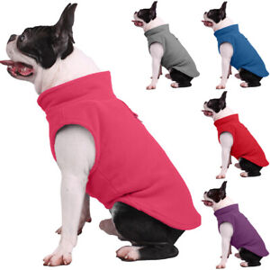 Small Dog Pet Winter Warm Jacket Coat Fleece Clothes Puppy Jumper Vest Sweater