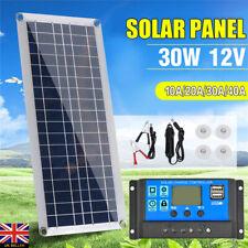 30W 12V Dual USB Flexible Solar Panel Battery Charger Kit Car Boat Useful