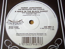 "HORST JANKOWSKI - A WALK IN THE BLACK FOREST   7"" OLD GOLD VINYL"