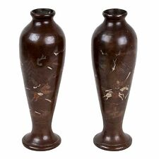 Cina 18./19. JH. vasi a pair of Chinese Bronze & SILVER vases-cinese chinois