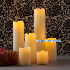 Pack of 6 LED Flameless Wax Candles Flickering Battery Real Look Smoke Unscented