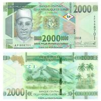 Guinea 2000 Francs 2019  P-New  Banknotes UNC