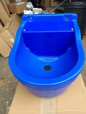 "AUTOMATIC FLOAT DRINKER 9L - Plastic Bowl Horse Stable Cattle Cow 1/2"" Blue"
