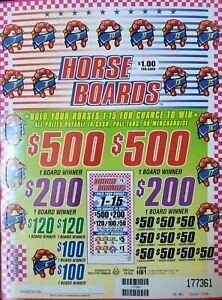 HORSE BOARDS PULL TAB CASHBOARD 16 MINI PACKS PROFIT $1134