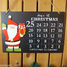Jours Avant Décoration De Noël Père Noël Minuteur Calendrier De L'avent Craie