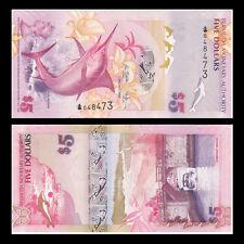 Bermuda 5 Dollars, 2009, P-58, Onion prefix, UNC, Banknotes, Original