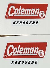 TWO (2) NEW COLEMAN KEROSENE 201 STICKER LABEL DECAL LANTERN STOVE REPLACEMENT