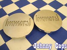 Immoral Wheels Chrome Center Cap #S5R1/2 Custom Wheel Chrome Center Caps (2)
