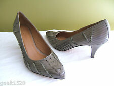 NEW! L.L. Bean Signature Woven Pumps Gorgeous Leather Olive Green Heels 10M $179