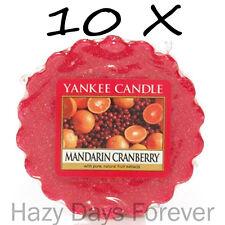 10 YANKEE CANDLE WAX TARTS Mandarin Cranberry SCENTED fruity fruit citrus