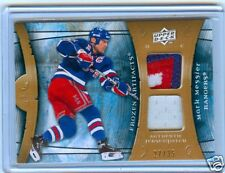MARK MESSIER 09-10 UD ARTIFACTS DUAL 3CLR PATCH #27/35