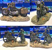 Motorbike | Bicycle Wreckage Aquarium Fish Tank Decaying Bike Ornament