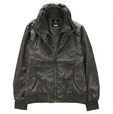 NII Mens Casual High Neck Double Zipper Front Detailed Jumper Jacket K GR Size M