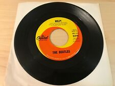 "THE BEATLES Help! 7"" Record Single Vintage Capitol Swirl VG"
