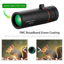 99X99 Monoculars Telescope Low Light Night Vision Zoom +Simple Clip Sightseeing