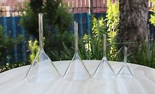 Set of 4 SIZES CONICAL GLASS FILTER FUNNEL 40, 60, 80, 100mm diam - coffee drips