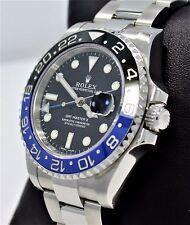 Rolex GMT-MASTER II 116710 BLNR BATMAN Black/Blue Ceramic Bezel Watch *MINT*