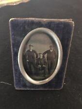 Tintype in case - Three Dapper Gentlemen