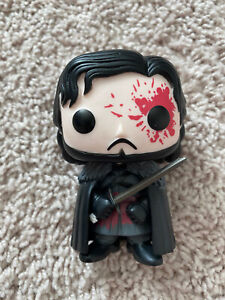 NEW NO BOX Funko GOT Game Of Thrones Jon Snow Bloody Hot Topic Exclusive Pop #7