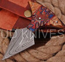 UD CUSTOM HANDMADE 1095 DAMASCUS STEEL  FULL TANG HUNTING KNIFE 9473
