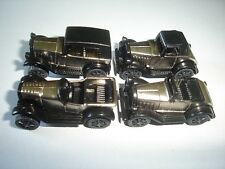 BLACK & CHROME VINTAGE MODEL CARS 1920's SET 1:87 H0 KINDER SURPRISE MINIATURES