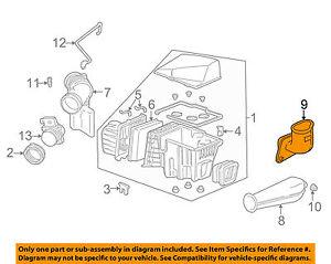 Air Cleaner Air Intake Snorkel Chevrolet uplander 09 08 07 06 GM OEM 10307576 K4