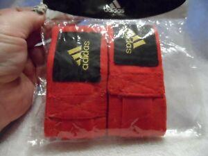 Adidas Boxing, MMA, Training Hand Wraps Boxing Crepe Bandage Red New