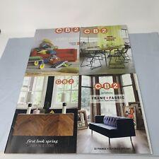 4x CB2 Crate & Barrel Catalog Magazine Lot of 4 2012 2014 2015 Modern