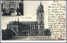 MAGDEBURG Sachsen-Anhalt 1904 Dom Kirche Nordseite Postkarte nach Kiel gelaufen
