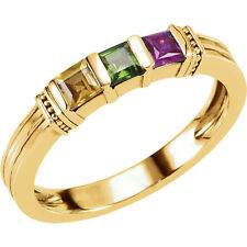 Ring for lilj_67. 10K Solid Gold Mother's Ring 3 Genuine Stones