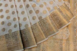 INDIAN TRADITIONAL ETHNIC BANARASI SILK SAREE SARI BRIDAL PARTY WEAR DRESS