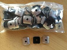 100 Kalotten Aluminium Sinus 76/18 Wellplatten  25 x 25 mm  Lichtplatten PVC