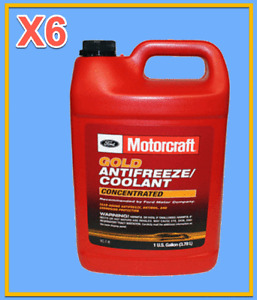 6 X Gallon OEM FORD Engine Coolant/Antifreeze Motorcraft VC7B GOLD Concentrated