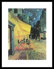 Vincent van Gogh Nachtcafe Poster Bild Kunstdruck im Alu Rahmen schwarz 30x24cm