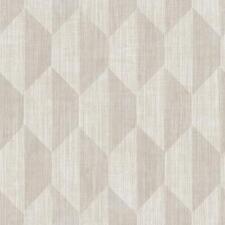 Wallpaper Designer Cream Taupe Pale Gray Retro Modern Geometric