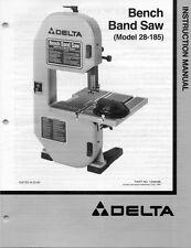 Delta 28-185 Bench Band Saw Instruction Manual