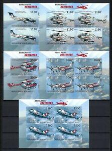 Burundi 2012 Sc#1258a-d,#1283  Air Ambulances  MNH Imperf. Set $20.80