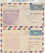 USA 1938, Aamc F17-2 Baltimore-Bermuda 1er Vol Couvertures (2) 1 With Rare Rouge