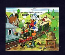 Dominica - 1987 - Disney - Donald Duck - Toy Train - Caverns + Mint Mnh S/Sheet!